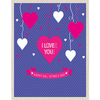 meSleep Blue Love U Valentine Canvas (14x18)