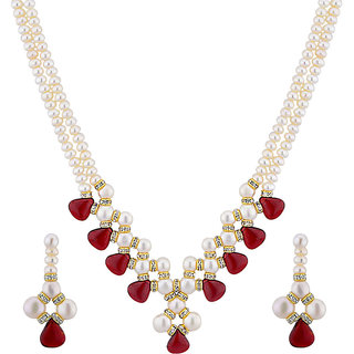 Jpearls Charming 2 Line Necklace Set