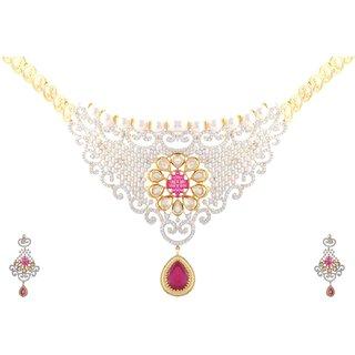 c59544b515b Buy CZ designer necklace set Online - Get 50% Off