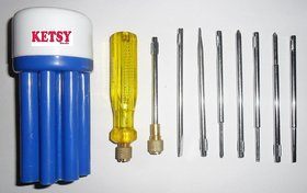 KETSY 546 Combination Screw Driver Set With Neon Bulb (9 Pcs)