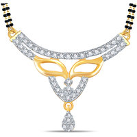 Valentine Silver Dew 92.5 Sterling Silver 18K Gold Plated Tanmaniya in CZ Stone