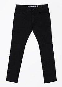 Indigo Jeanscode Men's Cotton Elastane Slim Fit Black Jeans