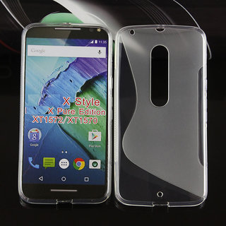 newest collection 2ecc8 eee7e Premium S-line Silicone Back Cover For Motorola Moto X Style XT1570/XT1572