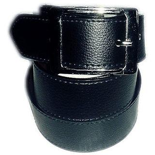 New look formal belt for man black colour.