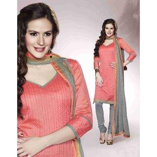Vogue Chanderi made Resham Work Embroidered Salwar Suit