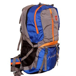 Gleam Mountain Rucksack/Hiking/trekking bag 75Ltrs RoyalBlueGrey with Rain Cover