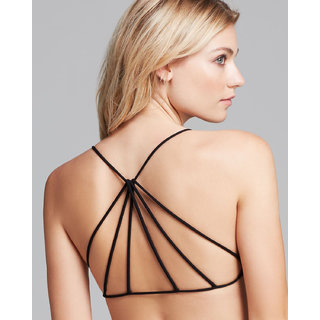 4173351f687 Buy Pyramid Style Black Bralette Padded (removable pads) Online ...