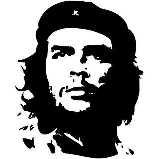 Indiashopers Che Guevara Hood, Bumper, Sides, Windows Car Sticker (Black)