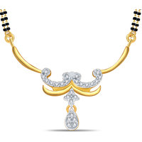 Silver Dew 92.5 Sterling Silver 18K Gold Plated Tanmaniya  in CZ Stone JHT0016