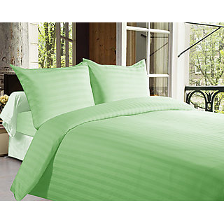 Story@Home 300 Tc 100% Cotton Green King Size 1 Bedsheet + 2 Pillow Cover-Fe2060