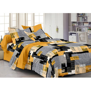 Story@Home 120 - 159 100% Cotton Blue 1 Double Bedsheet With 2 Pillow Cover-Mp1204