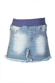 Stop by Shoppers Stop Self Design Girl Regular Skirt Denim Above Knee Length