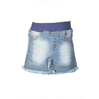 Stop by Shoppers Stop Self Design Girl Regular Skirt Denim Above Knee Length