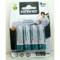 Envie 4 Pcs Rechargeable Aa 1000 Mah Ni Cd Battery Cell ......