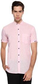 Wajbee Pink Colored Cotton Half Sleeve Shirt