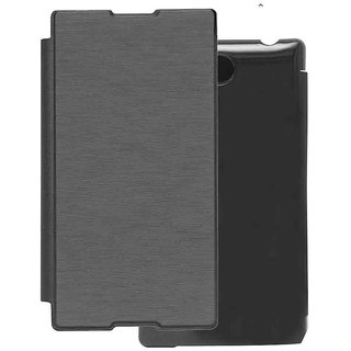 Snaptic Hi Grade Black Flip Cover for Sony Xperia Z Ultra