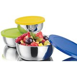 Lovato Life Stainless Steel Bowl Set  Multicolor, Pack of 3