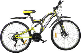 Cosmic Voyager 21 Speed Mtb Bicycle Black-Yellow-Premium Edition