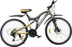 Cosmic Voyager 21 Speed Mtb Bicycle Black-Gold-Premium Edition