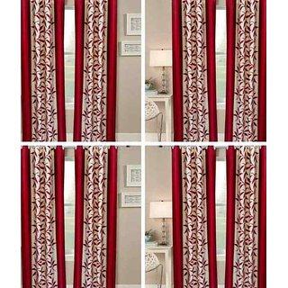 shiv shankar handloom set of 8 Long Door Curtains (9X4 Feet)