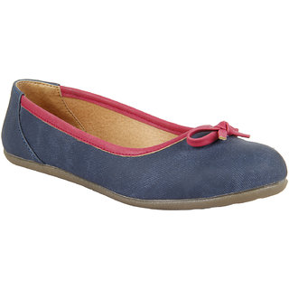 INSIGN Blue Ballerinas for Women (IN291103DENIMBLUE)