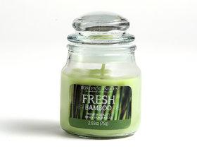 Hosley Fresh Bamboo Highly Fragranced Jar Candle