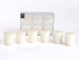 Set Of 6 Hosley 15 Hours Burn Time Each Unscented Votive Candles