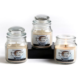 Set Of 3 Hosley Hazelnut Crme Highly Fragranced Jar Candles