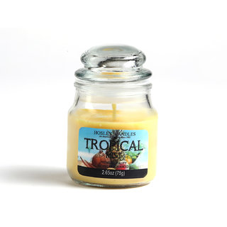 Hosley Tropical Mist Highly Fragranced Jar Candle
