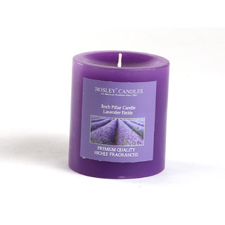 Hosley Lavender Fields Highly Fragranced 3Inch Pillar Candle