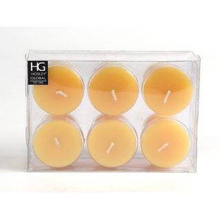 Set Of 6 Hosley 15 Hour Burn Time Each, Tropical Mist Highly Fragranced Votive Candles