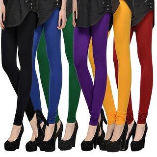 Aashish Fabrics Pack of 6 Multicolor Viscose Legging