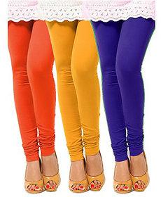 Pack of 3 Leggings - Orange, Yellow n Blue