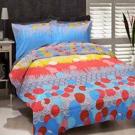 Welhouse Polycotton Floral Design Double Bed Sheet