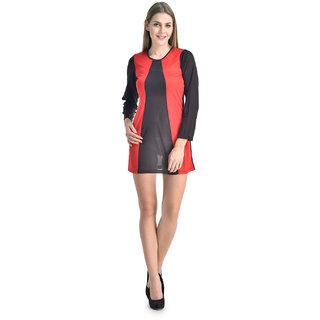 Klick2Style Black Plain Fit & Flare Dress For Women