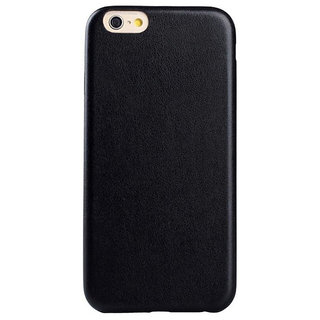 new product a8b15 09ede Callmate Leather Touch Back Cover for iPhone 6 - Black