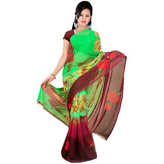 Subhash Daily Wear Multicolor Color Chiffon Saree