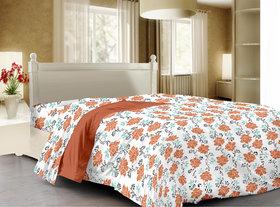Story@Home Orange Cotton Cambric 1 Single Dohar/Ac Quilt - Sfs1214