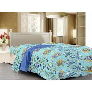 Story@Home Blue Cotton Cambric 1 Double Queen Size Dohar/Ac Quilt - Sf1208