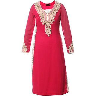 AzraJamil Party, Festive Embroidered Georgette Womens Kurti