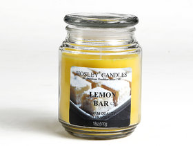 Hosley Lemon Bar Highly Fragranced, 18 Oz wax, Large Jar Candle