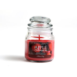 Hosley Apple Cinnamon Highly Fragranced Jar Candle