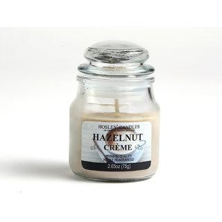 Hosley Hazelnut Creme Highly Fragranced Jar Candle