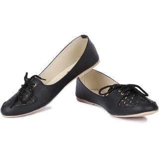 Cute Feet Black Color Cutwork Bellies For Girls