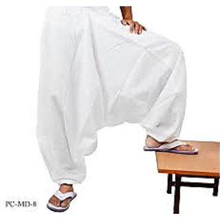 Khadi White Harem Pants for Men