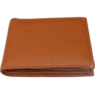 Brand Freakss Fashion Men Brown Genuine Leather Wallet (6 Card Slots)