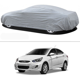 Stylobby Silver Car Cover For Hyundai Verna