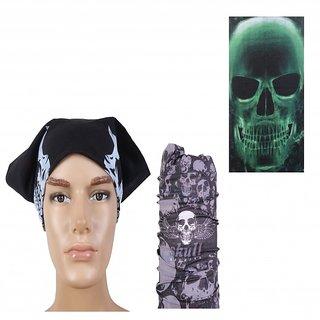Sushito   Design Black Headwrap Combo Bandana JSMFHHR0147