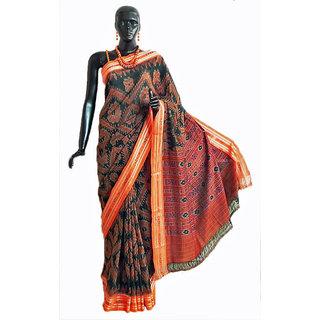 4a471b4ece643 Buy Maniabandhi Khandua Cotton Saree Online - Get 24% Off