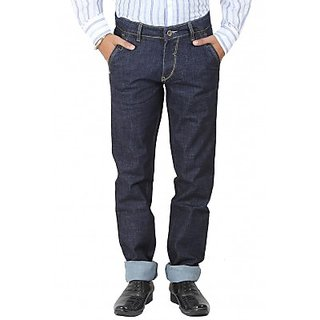 La-Marino Navy Blue Denim 100 Cotton Jeans (1061933Nblue)